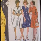 Vintage 70s McCall's 3144 Asymmetrical Front Dress Pattern Size 16