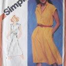 Vintage 80s Simplicity 5122 Shirtwaist Dress Pattern Short Sleeve Uncut Size 14