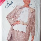 Retro 80s Butterick 3320 Long Jacket Peplum Top and Skirt Pattern Wedding Cocktail Uncut Size 16-24