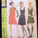 Vintage 60s McCall's 9445 Mini Jumper Dress and Blouse Pattern