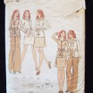 Vintage 70s Butterick 6996 A-Line Skirt and Shirt Collar Jacket Pattern Size 14