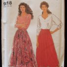 Simplicity 9818 Multi Size Flared Skirt Sewing Pattern Uncut