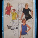 Vintage 70s Simplicity  8963 Knit Pullover Tunic Sewing Pattern Uncut