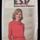 Vintage 70s Simplicity  8188 Cowl Neck Long Sleeve Stretch Knit Dress Pattern