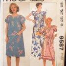 Retro 80s McCall's  9587 Yoked Front Raglan Sleeve Dress Pattern Uncut Size Large
