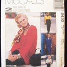 McCall's 8452 Tunic Top Pants and Skirt Pattern For Stretch Knits Uncut Size 16-18