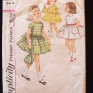 Vintage 60s Simplicity 4830 Girl's Summer Party Dress and Bag Pattern Size 6