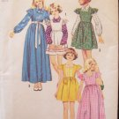 Vintage 70s Simplicity 6190 Girl's Jumper Dress and Blouse Sewing Pattern Uncut