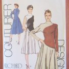 Retro 80s Simplicity 9403 Kimono Sleeve Color Block Dress Pattern Designer Richard Assatly Uncut