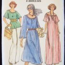 Vintage 70s Vogue 9453 Scoop Neck Maxi Dress Tunic Top Pants Pattern Size 14 Uncut