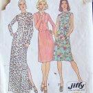 Vintage 70s Simplicity 6506 Draped Bateau Neckline Evening Dress Pattern Size 14