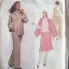 Vintage Vogue Designer Original 1628 Galitzine Jacket Blouse Skirt and Pants Pattern Size 14