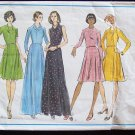 Vintage 70s Vogue 2979 Basic Design Evening Dress Pattern Cowl or Jewel Neckline Size 14