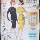 Vintage 60s Simplicity  5653 Wiggle Dress Pattern Slim Skirt Jewel or Scoop Neck Size 16