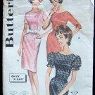 Vintage 60s Butterick  2171 Wiggle Dress Pattern Puff Sleeve size 16