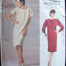 Vogue1579 American Designer Geoffrey Beene Pattern Quilted Yoke Dropped Shoulder Size 14