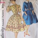 Vintage 60s Simplicity  3301 Full Skirt Shirt Waist Dress pattern Size 16