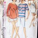 Vintage 60s Simplicity  6019 Capri Pants Shorts Tunic Top Pattern Size 16