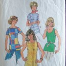 Vintage 70s Simplicity 7533 Square or Bateau Neck Summer Top Pattern Size 14
