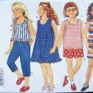 Butterick 3391 Girl's A-Line Sleeveless Dress Shorts and Pants Pattern Uncut