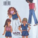Butterick 3544 Girl's Cropped Top Mini Skirt Shorts and Pants Pattern Uncut Size 6-8