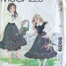 Vintage McCall's 8929 Enchanted Forest Girls Bib Dress Uncut 1984 Size 10-14