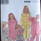 Simplicity 5941 Girl's Pajamas Nightgown and Robe Pattern Uncut Size 7-14