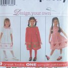 Simplicity 7283 Design Your Own Girl's Dress and Jumper Pattern Uncut Size 3-6