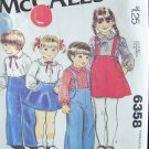 Vintage 70s McCall's 6358 Toddlers Pants Skirt and Shirt Pattern Uncut Size 3