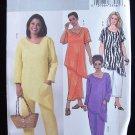 Butterick 4243 Asymmetrical Shaped Top Skirt Pants Pattern Uncut Plus Size 28W-32W