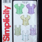 Simplicity 5521 Cropped Summer Top Blouse Pattern Sleeveless Uncut Size 12-22