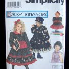 Simplicity Pattern 9436 Daisy Kingdom Girl's Tiered Skirt Dress Uncut Size 3-6