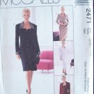 McCall's 2471 Lined Dress or Jacket and Skirt Pattern Uncut Plus Size 22-26