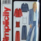 Simplicity 5837 Camisole Top Shirt Jacket and Pants Pattern Uncut Size 10-22