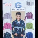 Butterick Pattern 4594 Girl's Cropped Box Jacket Six Styles uncut 7-14