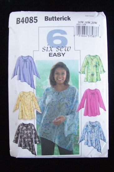 Butterick Pattern 4085 Plus Size Raglan Sleeve Tunic