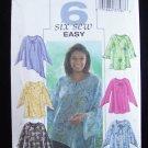 Butterick Pattern 4085  Plus Size Raglan Sleeve Tunic Blouse Six Styles Uncut 16W-20W