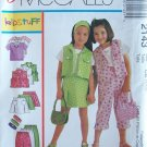 Easy McCall's 2143 Girl's Top Vest Skort Pants and Headband Pattern Uncut Size 3-5