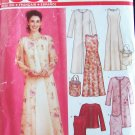 New Look 6270 A-Line Dress Open Front Jacket and Bag Sewing Pattern Uncut Size 10-22