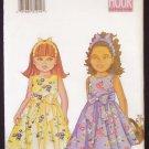 Butterick 6488 Girl's Sleeveless Full Skirt Dress and Headband Sewing Pattern Uncut Size 2-5