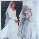 Vintage 80s McCall's 2342 Priscilla Wedding Gown Bridal Dress Pattern Uncut Size 14-18