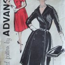 Vintage 60s Advance 9595 Double Breasted Coat Dress Sewing Pattern Size 18