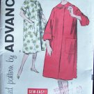 Vintage 60s Advance 9315 Robe House Coat Sewing Pattern Size 18