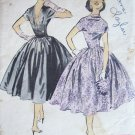 Vintage 50s Advance 79414 Anne Fogarty Circle Skirt Dress Pattern Low Back Size 14
