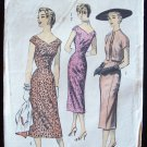 Vintage 50's Advance 8007 Princess Sheath Dress Cropped Jacket Sewing Pattern Size 14