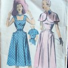 Vintage 40s Advance 5511 Summer Sundress and Cape Sewing Pattern