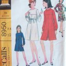 Vintage 60s McCall's  8950 Dress or Pantdress Pattern Uncut Size 14