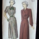 Vintage 40s Advance 4883 Shirtwaist Dress Pattern Size 16