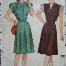 Vintage 1940s Simplicity 1541 Shoulder Yoke Day Dress Pattern Size 14