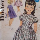 Vintage 60s Butterick 2194 Girls Full Skirt Party Dress Pattern Size 1